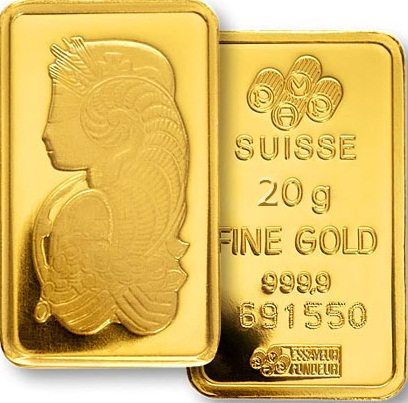 20gm PAMP Suisse Lady Fortuna Gold Bar